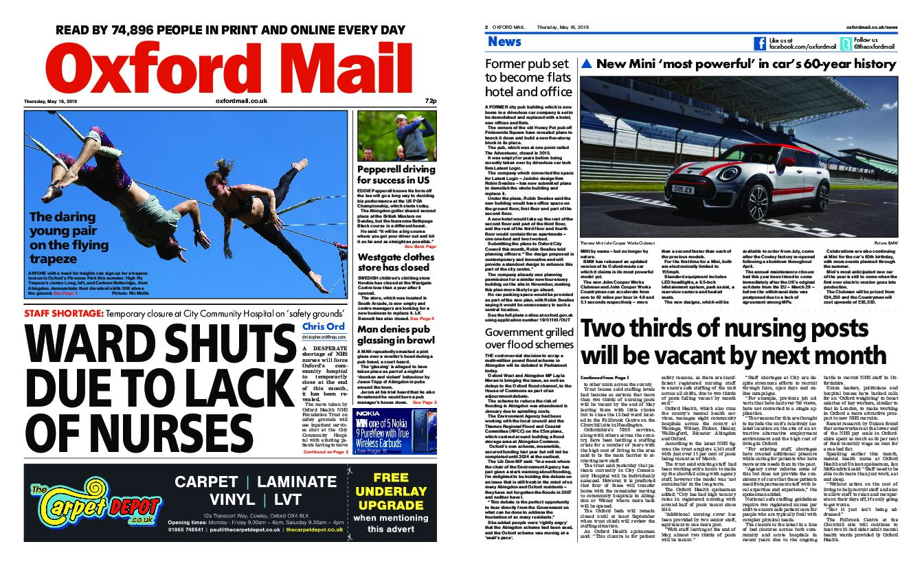 Oxford Mail – May 16, 2019