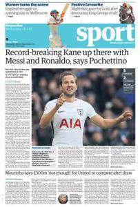 The Guardian Sports supplement  27 December 2017