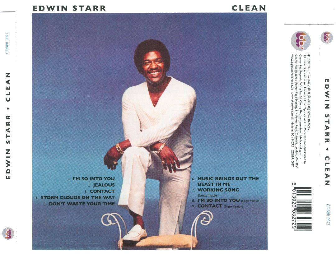 Edwin Starr - Clean (1978) [2011, Remastered & Expanded Edition]
