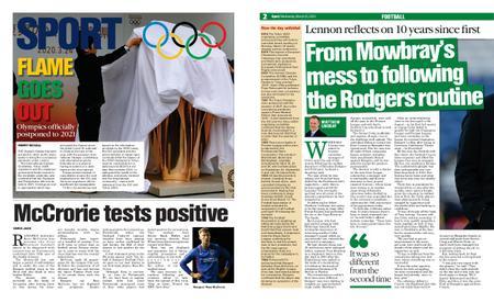 The Herald Sport (Scotland) – March 25, 2020