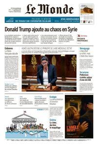 Le Monde du Mercredi 9 Octobre 2019