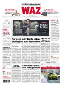 WAZ Westdeutsche Allgemeine Zeitung Oberhausen-Sterkrade - 30. November 2018