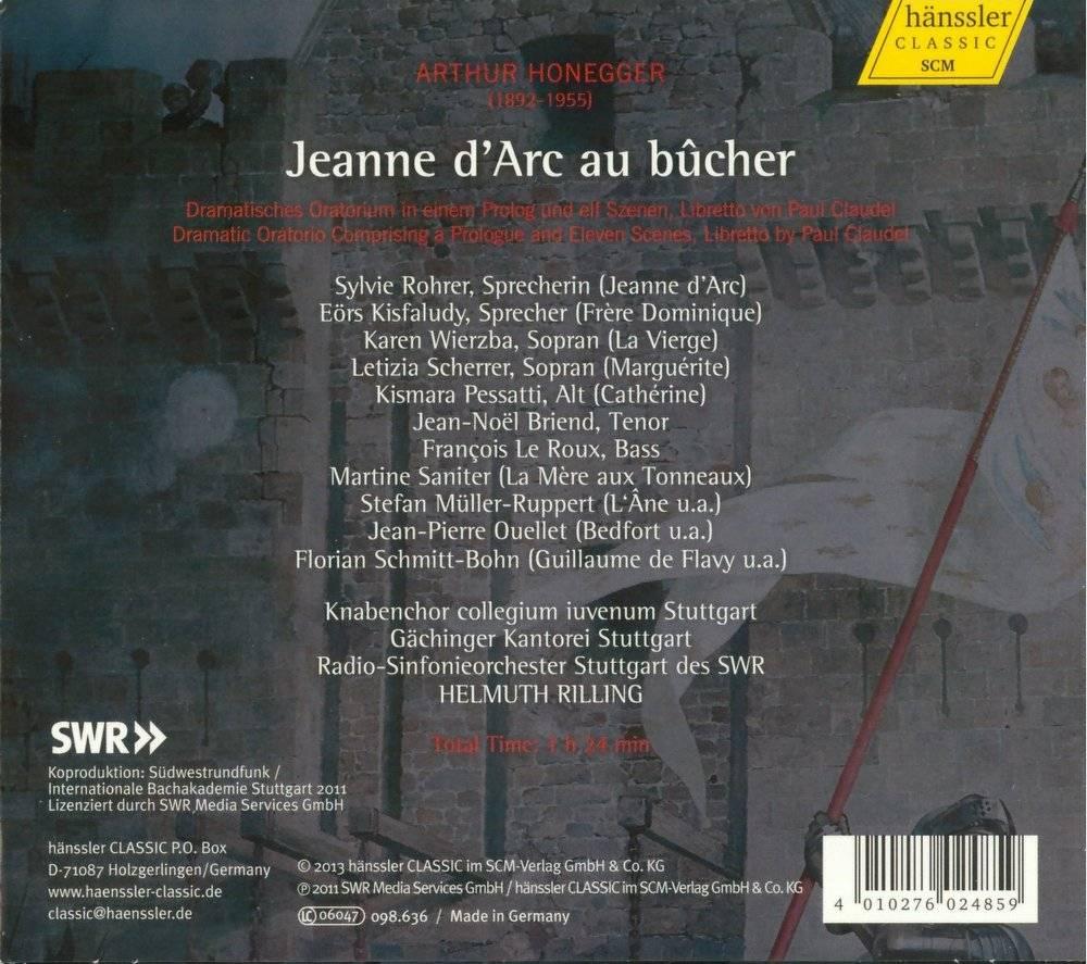 Stuttgart Radio Symphony Orchestra, Helmut Rilling - Honegger: Jeanne d'Arc au bûcher (2013)