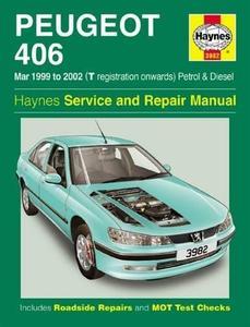Peugeot 406 Mar 1999 to 2002 (T registration onwards), petrol diesel. Haynes Service and Repair Manual.
