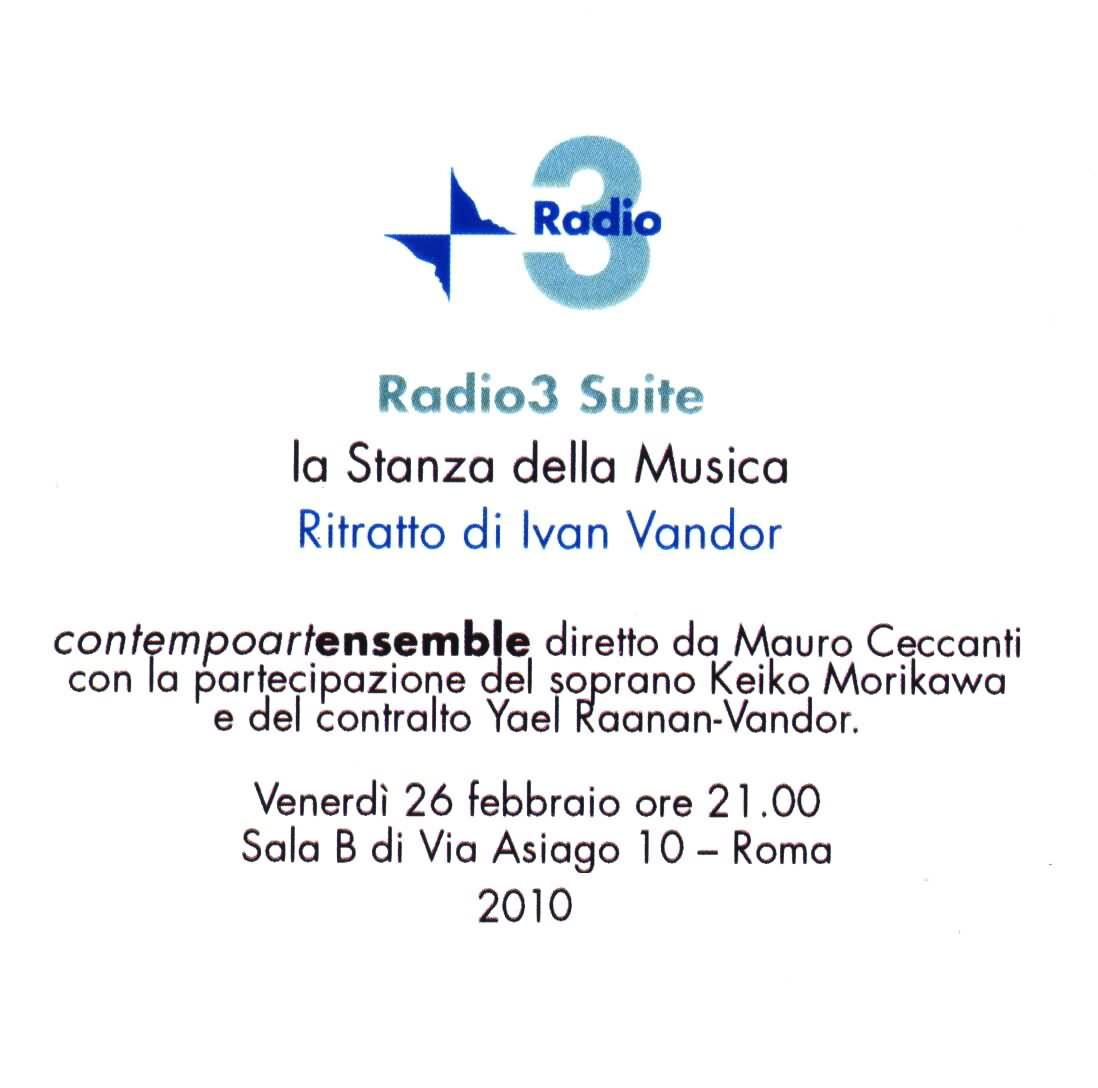 Ivan Vandor - Ritratto (2010, live broadcast) / AvaxHome