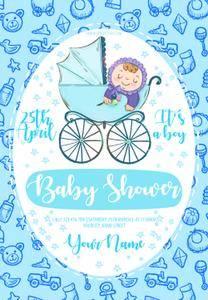 Baby Shower PSD Flyer Template 5