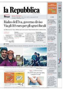 la Repubblica - 9 Agosto 2018