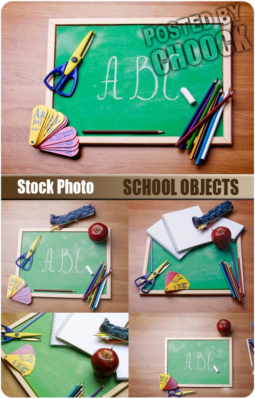 Stock Photo: School objects