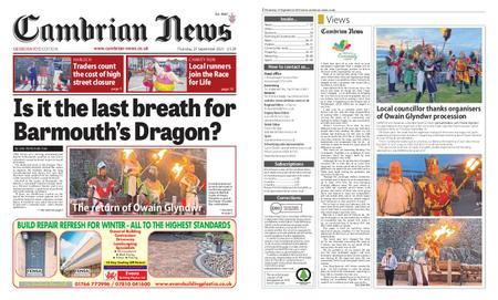 Cambrian News Meirionnydd – 24 September 2021