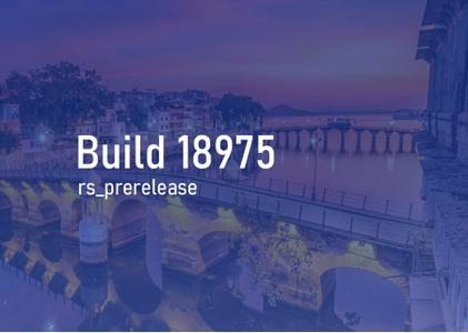 Windows 10 Insider Preview (20H1) Build 18975.1000