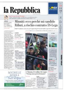 la Repubblica - 18 Novembre 2018