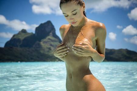 Alexis Ren by Kim Akrich on Bora Bora
