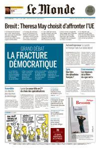 Le Monde du Jeudi 31 Janvier 2019