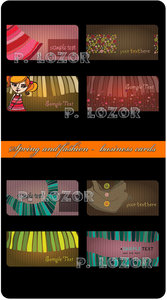 Spring and fashion -  business cards