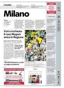 la Repubblica Milano - 13 Giugno 2018