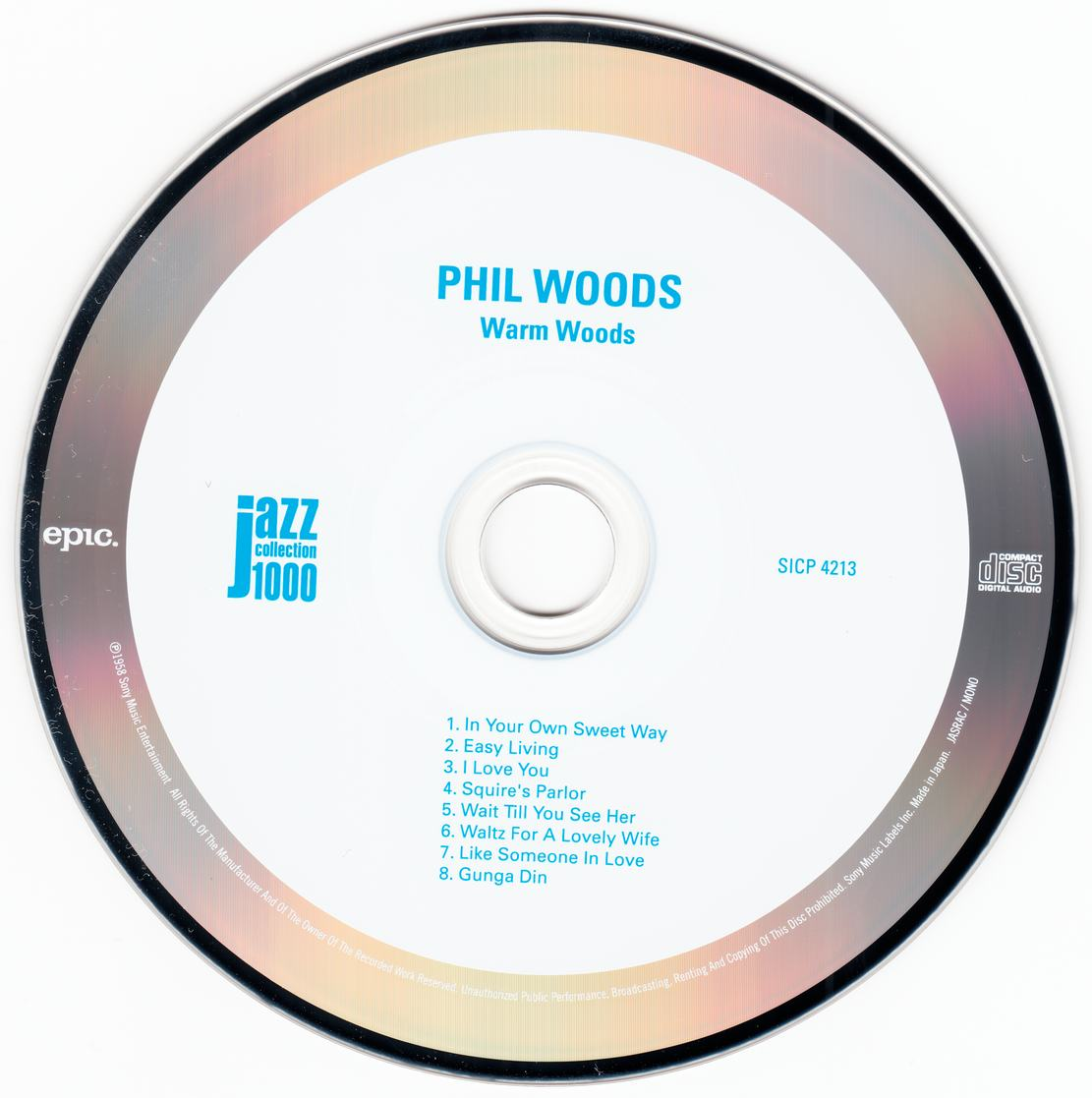 Phil Woods - Warm Woods (1957) {2014 Japan Jazz Collection 1000 Columbia-RCA Series SICP 4213}