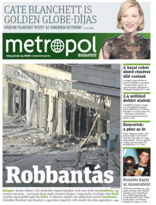 Metro [Hungary - Budapest], 14. Januar 2014