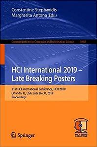 HCI International 2019 – Late Breaking Posters: 21st HCI International Conference, HCII 2019, Orlando, FL, USA, July 26–