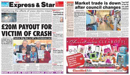 Express and Star City Edition – December 12, 2017