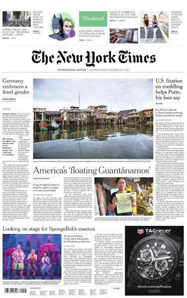 International New York Times - 25-26 November 2017