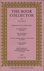 The Book Collector - Autumn, 1969