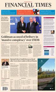 Financial Times Europe – 22 November 2018