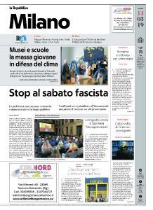la Repubblica Milano - 14 Marzo 2019