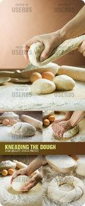 Stock Photo - Kneading the Dough