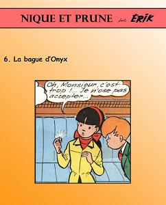 Nique et Prune - Tome 6 - La Bague d'Onyx