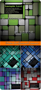 Vector backgrounds mosaic