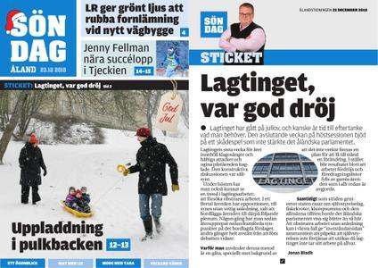 Ålandstidningen – 23 december 2018