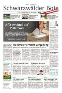 Schwarzwälder Bote St. Georgen, Triberg, Furtwangen - 02. September 2019