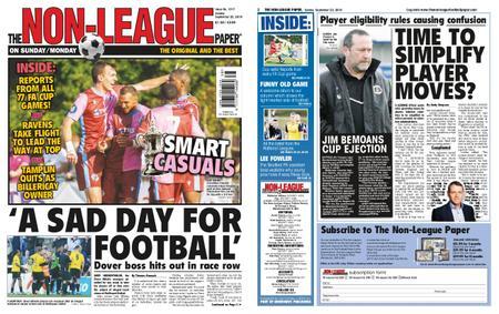 The Non-league Football Paper – September 22, 2019