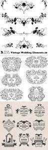 Vectors - Vintage Wedding Elements 19
