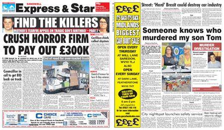 Express and Star Sandwell Edition – May 16, 2018