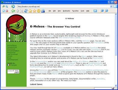 Portable K-Meleon Browser 1.0