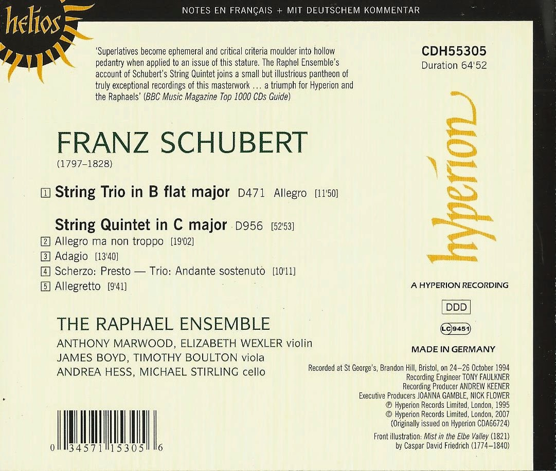 The Raphael Ensemble - Schubert: String Trio, String Quintet (2007)