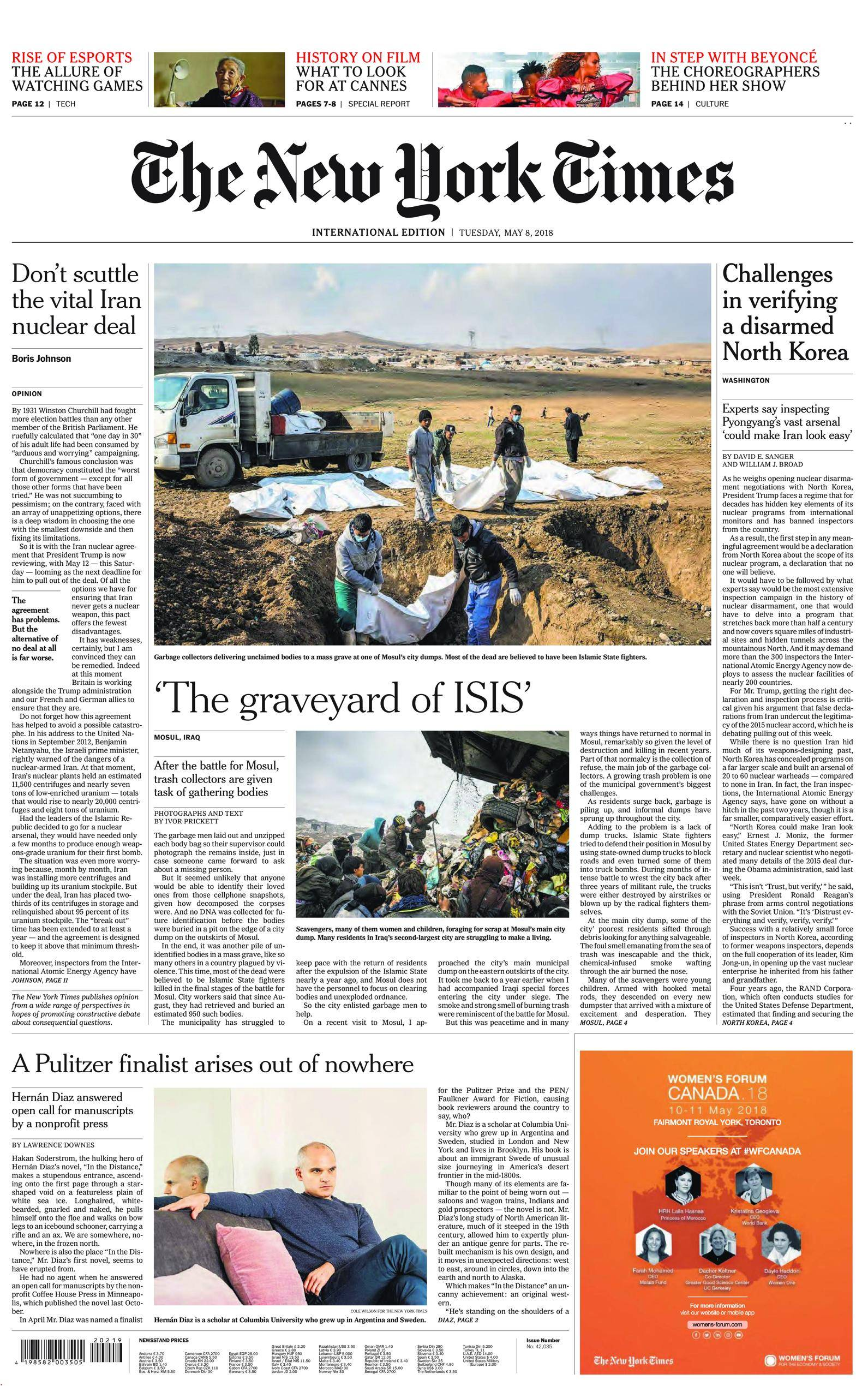 International New York Times - 08 May 2018