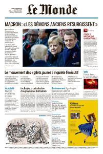 Le Monde du Mardi 13 Novembre 2018