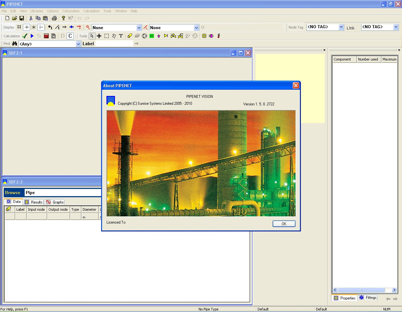 Sunrise PIPENET Vision 1.5.0.2722