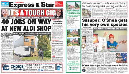 Express and Star Sandwell Edition – October 10, 2018