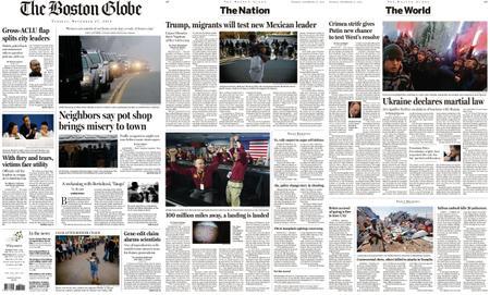 The Boston Globe – November 27, 2018
