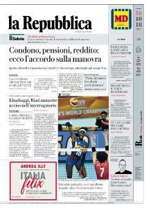 la Repubblica - 16 Ottobre 2018