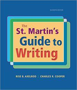 The St. Martin's Guide to Writing, 11th Edition