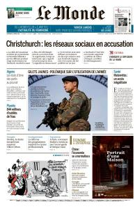 Le Monde du Vendredi 22 Mars 2019