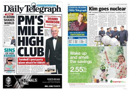 The Daily Telegraph (Sydney) – September 04, 2017