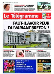 Le Télégramme Brest Abers Iroise – 17 mars 2021