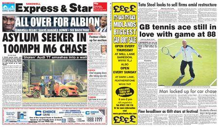 Express and Star Sandwell Edition – May 09, 2018