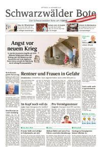 Schwarzwälder Bote St. Georgen, Triberg, Furtwangen - 14. November 2018
