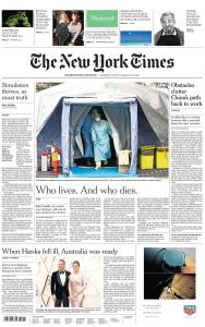 International New York Times - 14-15 March 2020